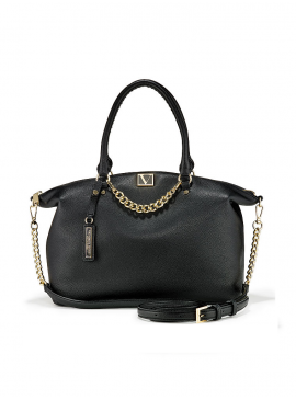 Фото Стильная сумка The Victoria Slouchy Satchel от Victoria's Secret - Black