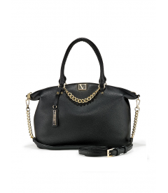 Стильная сумка The Victoria Slouchy Satchel от Victoria's Secret - Black