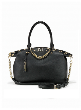 Фото Стильная сумка The Victoria Slouchy Satchel от Victoria's Secret - Black Lily