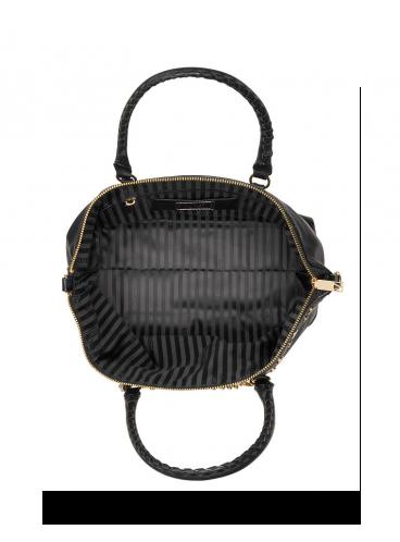 Стильная сумка The Victoria Slouchy Satchel от Victoria's Secret - Black Lily