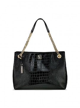 Фото Стильная сумка The Victoria Shoulder от Victoria's Secret - Black Croc