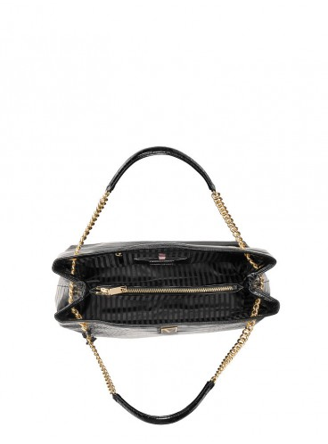 Стильная сумка The Victoria Shoulder от Victoria's Secret - Black Croc