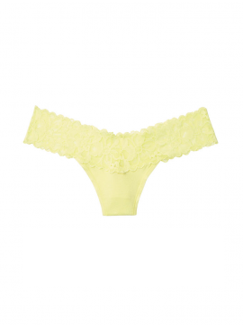 Фото Трусики-стринги Victoria's Secret из коллекции Cotton Lace - Lime Yellow