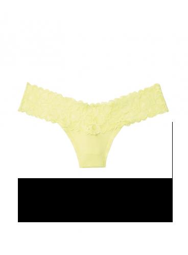Трусики-стринги Victoria's Secret из коллекции Cotton Lace - Lime Yellow
