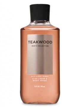 Фото 3в1 Мужское средство для мытья волос, лица и тела Teakwood от Bath and Body Works