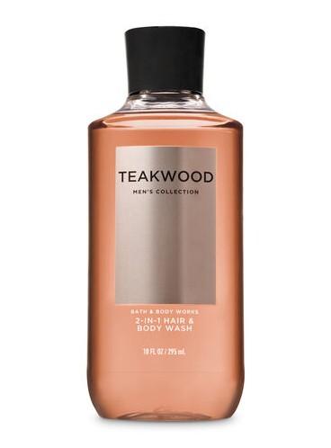 3в1 Мужское средство для мытья волос, лица и тела Teakwood от Bath and Body Works