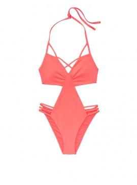 Фото NEW! Стильный монокини Strappy Plunge от Victoria's Secret - Coral Blush