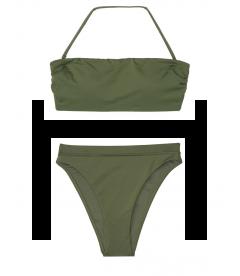 NEW! Стильный купальник Double Back Tie Bandeau от Victoria's Secret - Moss