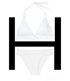 NEW! Стильный купальник Ribbed Fixed Halter от Victoria's Secret - White