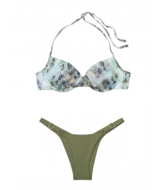 NEW! Стильный купальник Booster от Victoria's Secret - Mint Snake - Moss