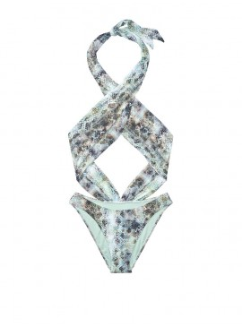More about NEW! Стильный монокини Wrap Front от Victoria's Secret - Mint Snake