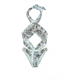 NEW! Стильный монокини Wrap Front от Victoria's Secret - Mint Snake