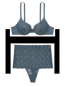 Фото Кружевной комплект с Push-Up из серии Body by Victoria от Victoria's Secret - Blue Storm
