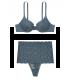 Кружевной комплект с Push-Up из серии Body by Victoria от Victoria's Secret - Blue Storm