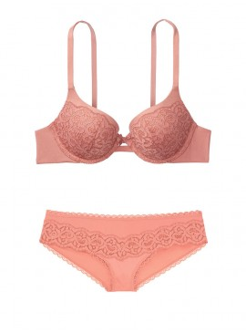 Фото Кружевной комплект с Push-Up из серии Body by Victoria от Victoria's Secret - Rose Clay
