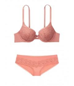Кружевной комплект с Push-Up из серии Body by Victoria от Victoria's Secret - Rose Clay