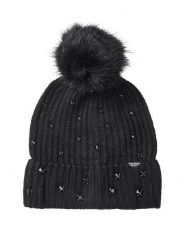 Фото Стильная шапка Pom-Pom Hat от Victoria's Secret - Black