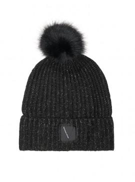 Фото Стильная шапка Pom-Pom Hat от Victoria's Secret - Pure Black