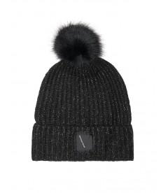 Стильная шапка Pom-Pom Hat от Victoria's Secret - Pure Black