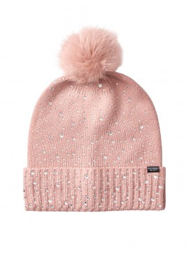 Фото Стильная шапка Pom-Pom Hat от Victoria's Secret - Pink