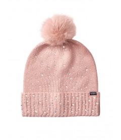 Стильная шапка Pom-Pom Hat от Victoria's Secret - Pink