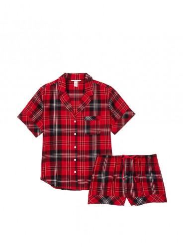 Пижамка с шортиками Victoria's Secret из сериии Sleepsoft - Big Red Plaid