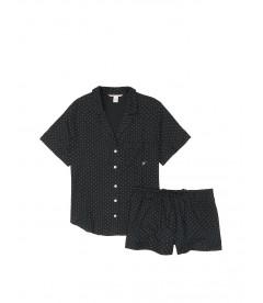 Пижамка с шортиками Victoria's Secret из сериии Sleepsoft - Black Pin Dot