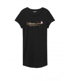 Ночная рубашка от Victoria's Secret - Black Logo Flower