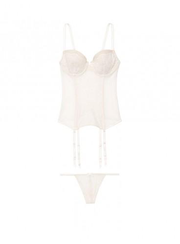Шикарный пеньюар Lace Corset от Victoria's Secret - Coconut White