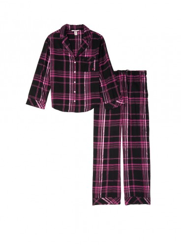Фланелевая пижама от Victoria's Secret - Black Hot Pink Big Plaid