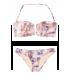 NEW! Стильный купальник V-splice Bandeau от Victoria's Secret - Beige Snake