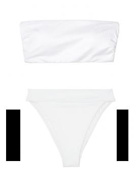 Фото NEW! Стильный купальник Ribbed Bandeau от Victoria's Secret - White