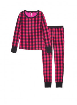 Фото Термопижамка от Victoria's Secret - Fuschia Buffalo Check Plaid
