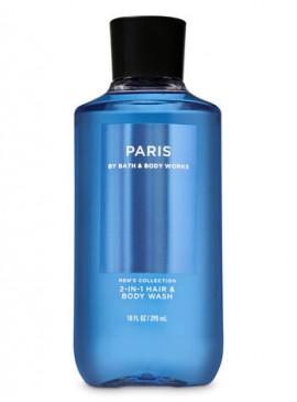 Фото 2в1 Мужское средство для мытья волос и тела Paris от Bath and Body Works