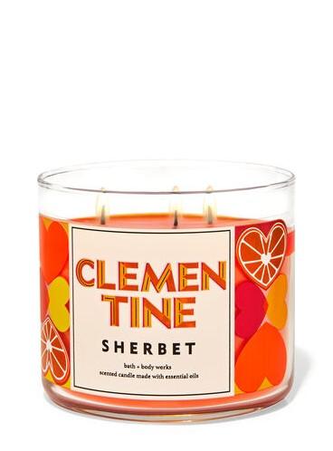 Свеча Clementine Cherbet от Bath and Body Works