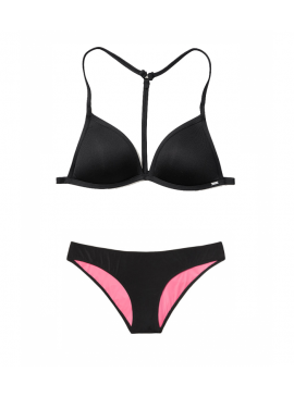Фото Купальник Push-Up Triangle от Victoria's Secret PINK - Pure Black