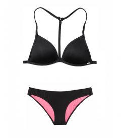 Купальник Push-Up Triangle от Victoria's Secret PINK - Pure Black