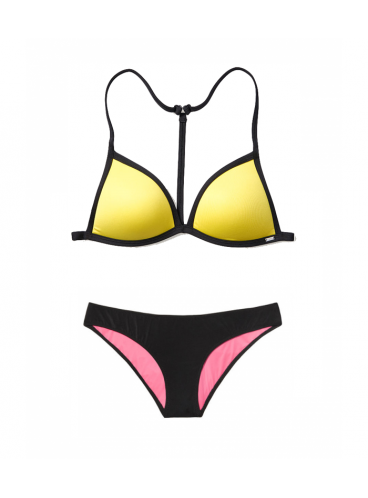 Купальник Push-Up Triangle от Victoria's Secret PINK - Lemon Sorbet