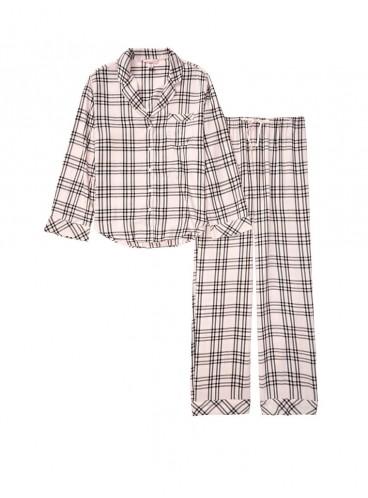 Фланелевая пижама от Victoria's Secret - Pink Fizz Black Checks