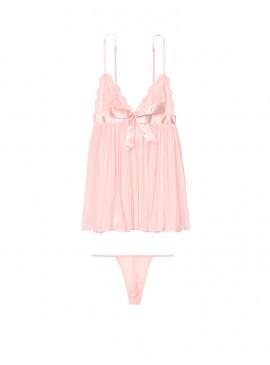 Фото Нежный пеньюар Very Sexy Pleated Babydoll от Victoria's Secret - Millennial Pink