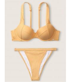 Стильный купальник Ribbed Push Up от Victoria's Secret PINK - Honeycomb