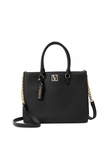 Стильная сумка Victoria Structured Satchel от Victoria's Secret - Black Lily