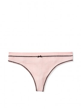 Фото Трусики-стринги Victoria's Secret из коллекции Seamless Knit Pop Trim - Purest Pink