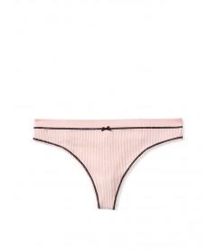 Трусики-стринги Victoria's Secret из коллекции Seamless Knit Pop Trim - Purest Pink