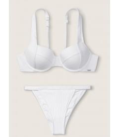 Стильный купальник Ribbed Push Up от Victoria's Secret PINK - White