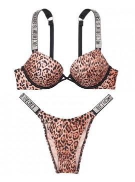 Фото NEW! Стильный купальник Shine Strap Bali Bombshell Brazilian от Victoria's Secret - Natural Leopard