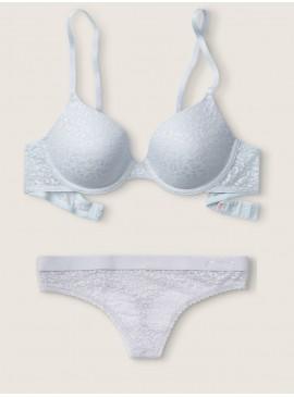Фото Комплект бeлья из серии Wear Everywhere от Victoria's Secret PINK - Hydrangea Blue Shine