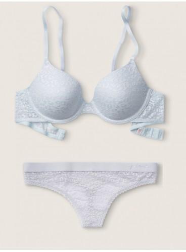 Комплект бeлья из серии Wear Everywhere от Victoria's Secret PINK - Hydrangea Blue Shine