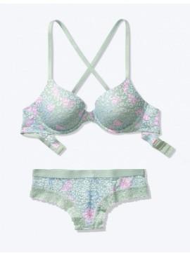 Фото Комплект бeлья из серии Wear Everywhere от Victoria's Secret PINK - Soft Sage Florals