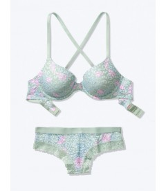 Комплект бeлья из серии Wear Everywhere от Victoria's Secret PINK - Soft Sage Florals